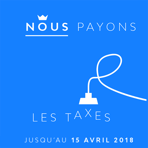 Promotion nous payons les taxes