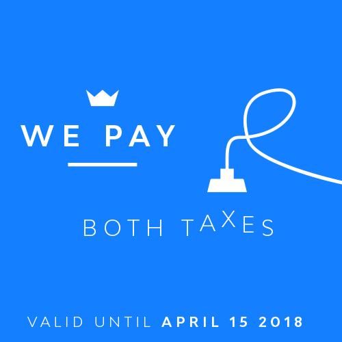 Promotion we pay both taxes