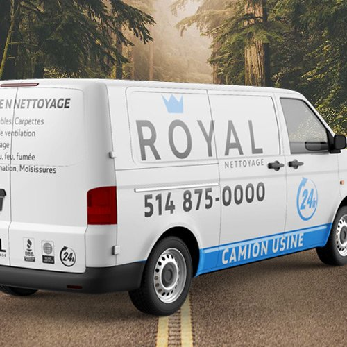 Air duct cleaning truck from Royal Nettoyage